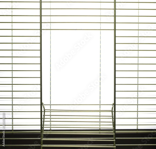 Fotografie, Obraz Birdcage isolated on white background