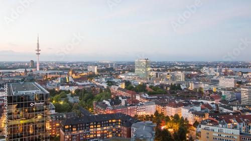 Hamburg, Niemcy - Stare miasto, panoramę ptaka. Niemieckie miasto.