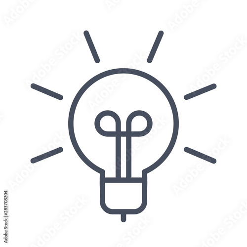 Photo  Innovative idea modern stylish icon with light bulb