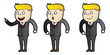 Explainer character design with theme of business man