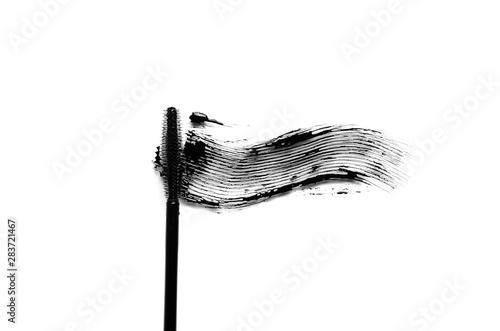 Black mascara brush stroke makeup close up Canvas-taulu