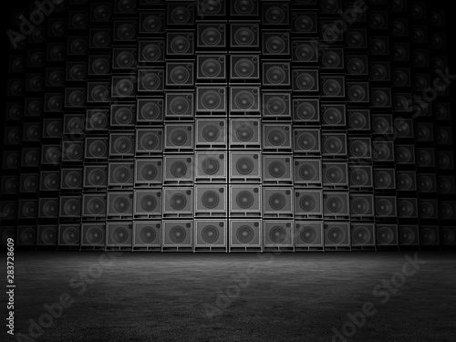 Wall of guitar amps Canvas Print
