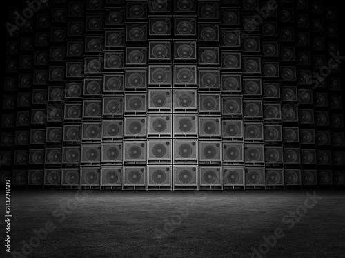 Wall of guitar amps Wallpaper Mural
