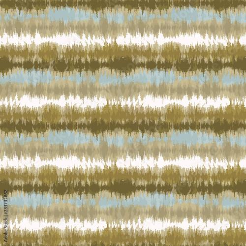 Fototapeten Künstlich Seamless pattern tie dye shibori stripes. Colorful boho summer background. Vector textile retro swatch.