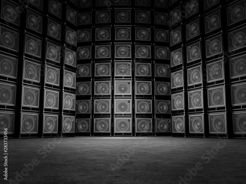 Fotografie, Obraz Wall of guitar amps