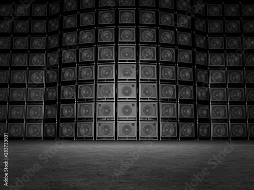 Background of guitar amps Wallpaper Mural