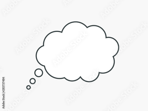Tablou Canvas Blank empty white speech bubbles