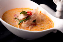 Thai Food Tom Yum Salmon Spicy