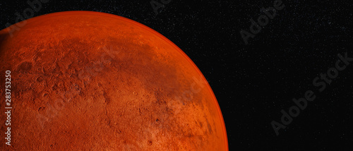 Photo the planet mars (3d rendering