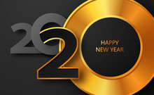 Happy New Year 2020 Banner Wit...