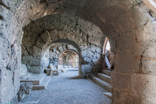 Interior Of An Old Church Amphitheater In Side, Turkey