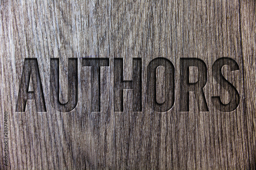 Conceptual hand writing showing Authors Tablou Canvas