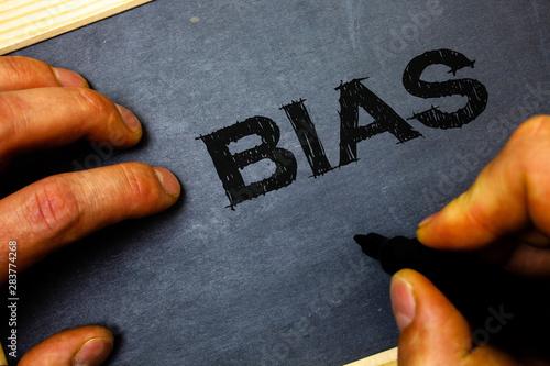 Valokuva  Word writing text Bias