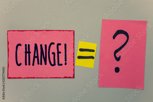 Canvas Print Conceptual hand writing showing Change Call