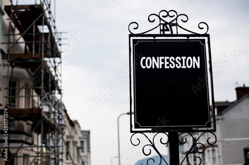 Writing note showing Confession Canvas Print