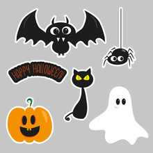 Halloween Set, Cute Bat, Spide...