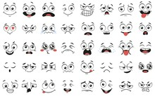 Cartoon Faces. Expressive Eyes...