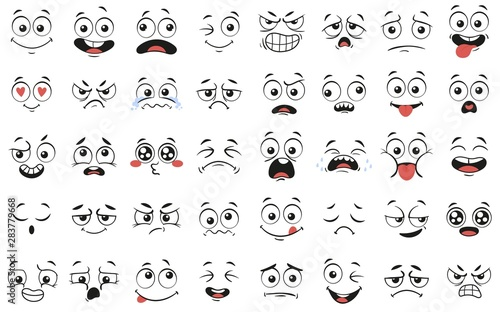 Cartoon faces Slika na platnu