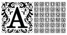 Vintage Monogram Letters. Deco...