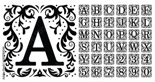 Foto  Vintage monogram letters