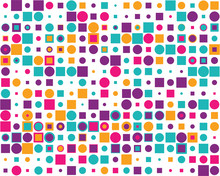 Pattern With Colorful Squares ...