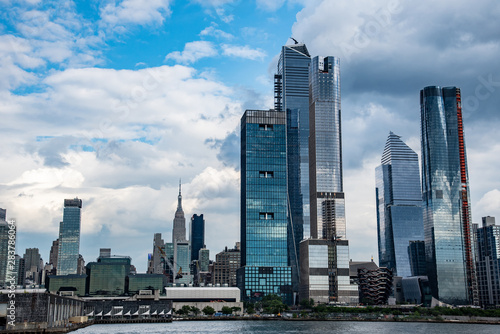 Fotografia Hudson Yards from a boat in the Hudson River