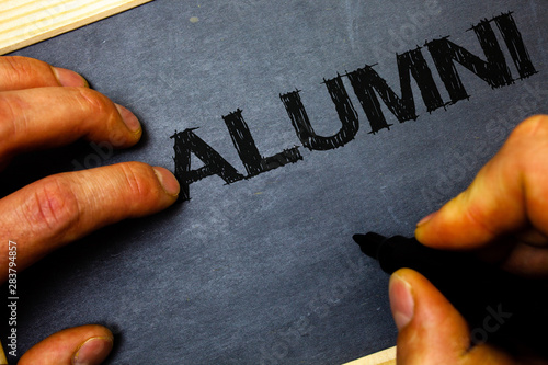 Word writing text Alumni Canvas Print