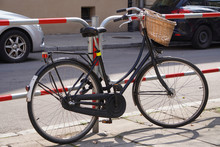 City Bike With Wicker Basket I...