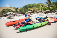 Couple Of Colorful Kayaks With...