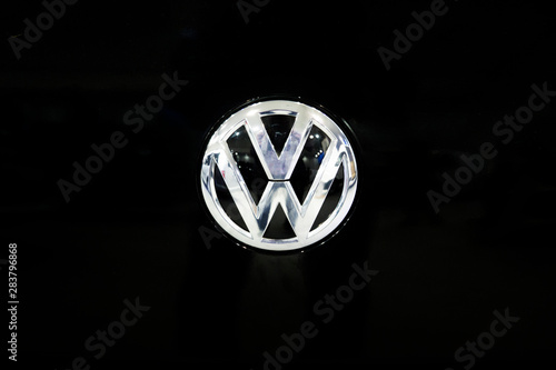 Detail of Volkswagen logo Wallpaper Mural