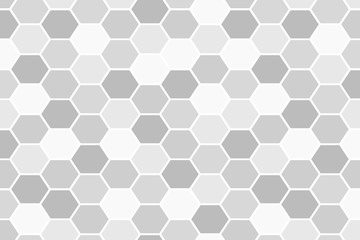 Vector gray honeycomb hexag...