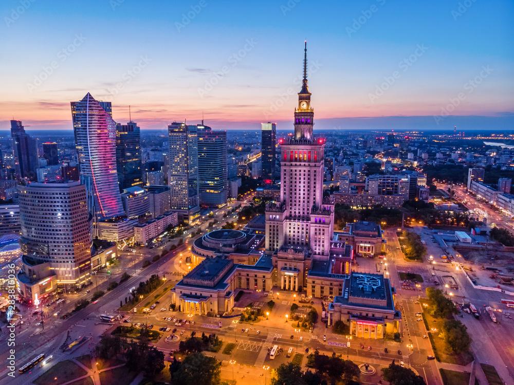 Fototapety, obrazy: Warszawa o zmierzchu
