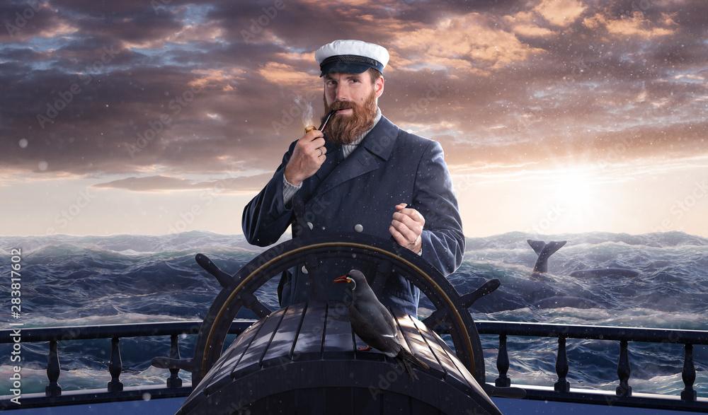 Fototapety, obrazy: Seemann auf hohe See