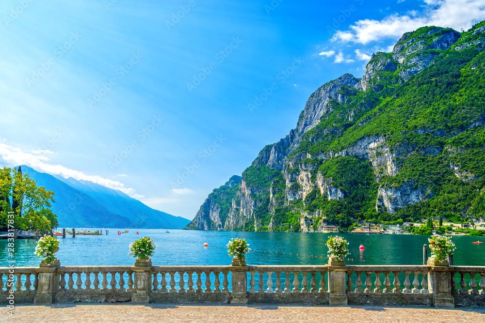 Fototapety, obrazy: Riva del Garda, Trentino, Italy, by Garda lake
