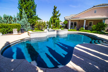 Side Yard Swimming Pool With F...