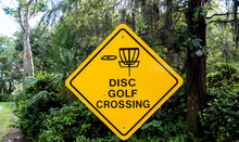 Disc Golf Course Sign Of Disc ...