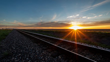Sunset On The Rail Road