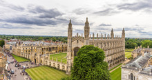 Panorama Of The City Cambridge From The Observation Tower Of St.Mary's Church