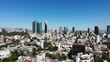 Aerial panoramic view in Mexico City