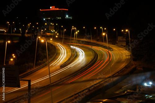 Keuken foto achterwand Nacht snelweg Longa exposição