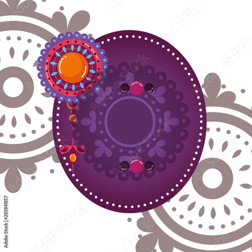 Photo  Mandale of bohemic and ornament concept