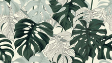 Botanical Seamless Pattern, Sp...