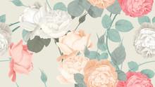 Botanical Seamless Pattern, Ro...
