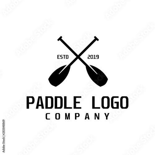 Photo Paddle retro logo design inspiration