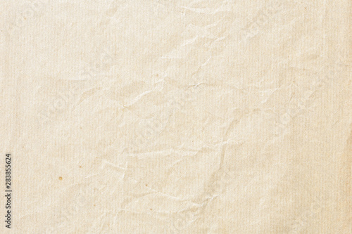 Wall Murals Retro Old pale brown crumpled paper background texture