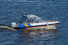 Water Police Boat With A Siren.