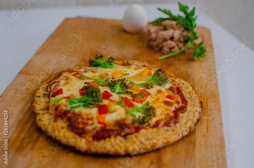 Pizza vegetarisch Canvas Print