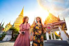 Two Asian Girlfriends Travelin...