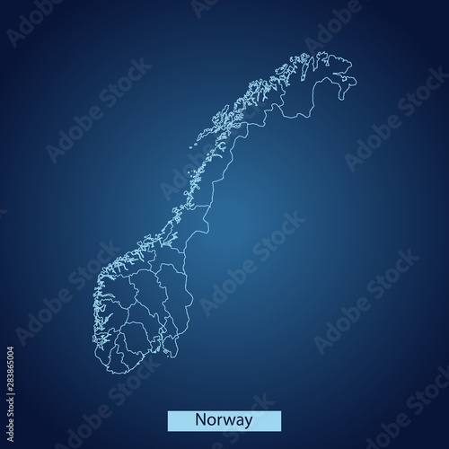 map of Norway Tablou Canvas