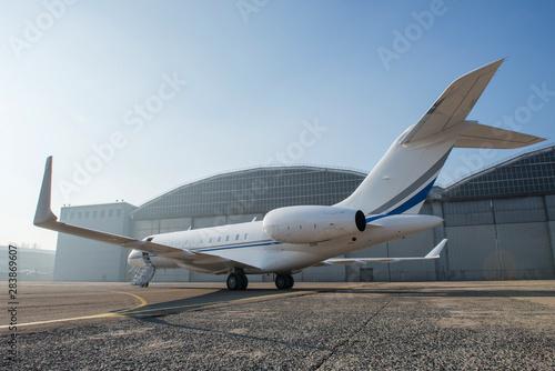 Fotografia, Obraz Business jet plane on the ground.